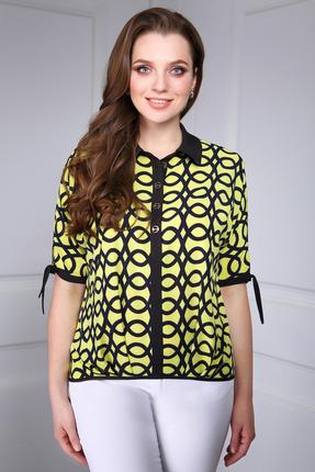 Купить Блузка DiLiaFashion 0066 желтый, Блузки, 0066, желтый, ПЭ 65%, 30% вискоза, 5% спандекс, Лето