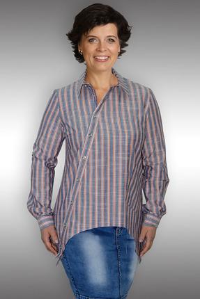 Купить Блузка Таир-Гранд 62233 терракот, Блузки, 62233, терракот, хлопок – 100 %, Мультисезон