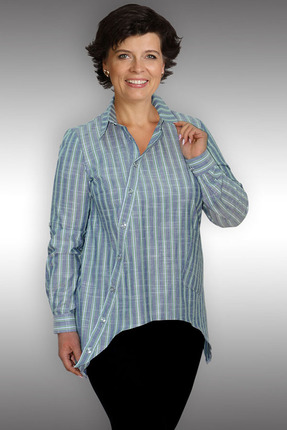 Купить Блузка Таир-Гранд 62233 зеленые тона, Блузки, 62233, зеленые тона, хлопок – 100 %, Мультисезон