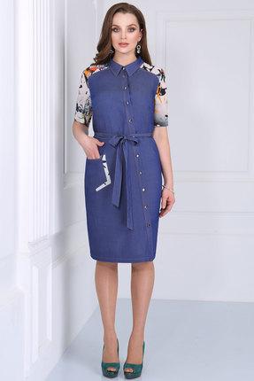 Купить Платье Matini 31086 синий, Платья, 31086, синий, Вискоза 72%, пэ 25%, эластан 3%, Лето