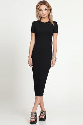 Купить Платье Prio 161480 черный, Платья, 161480, черный, 60% Полиэстер, 30 % Вискоза, 10% Эластан, Лето