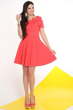 Купить Платье LaKona 950 коралл, Платья, 950, коралл, ПЭ 60%+Вискоза 35%+Спандекс 5%, Лето
