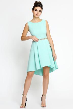 Купить Платье PIRS 129 светло бирюзовый, Платья, 129, светло бирюзовый, 96% полиэстр 4% спандекс, Мультисезон