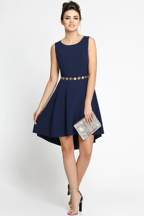 Купить Платье PIRS 129 темно синий, Платья, 129, темно синий, 96% полиэстр 4% спандекс, Мультисезон