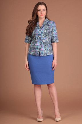 Купить со скидкой Комплект юбочный Lady Style Classic 640 синие тона