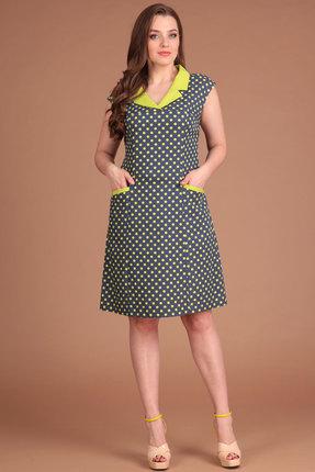 Купить Платье Lady Style Classic 874 горохи , Платья, 874, горохи , Хлопок 69%+Нейлон 26%+Эластан 5%, Лето