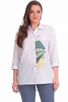 Женская белая хлопковая рубашка