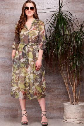 Платье ТАиЕР 627 зелёный, Платья, 627, зелёный, 100% полиэстер, Лето  - купить со скидкой
