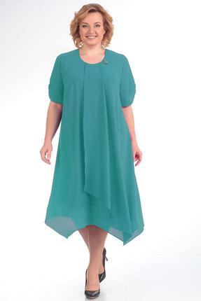 Платье Algranda 2759-1 бирюза