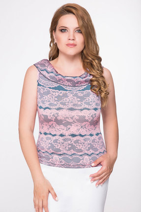 Купить Блузка Дали 1027 розовый, Блузки, 1027, розовый, Виск-48%, ПЭ-47%, спан-5%., Мультисезон