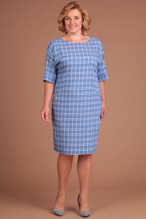 Купить Платье Lady Style Classic 926 голубой, Повседневные платья, 926, голубой, Вискоза 72%+ПЭ 25%+ПУ 3%, Лето