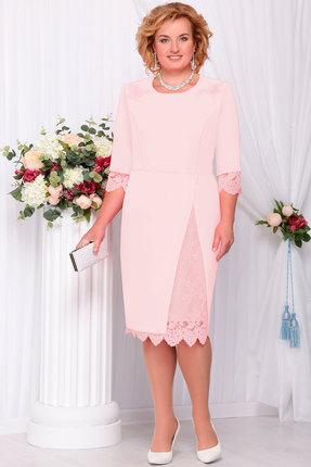 Купить Платье Ninele 261.1 пудра , Платья, 261.1, пудра , Полиэстер - 97%, Спандекс - 3% Кружево - ПЭ - 100% Подкладка - Полиэстер - 100%, Мультисезон