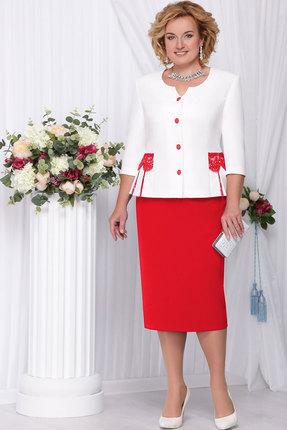 Купить Комплект юбочный Ninele 2108 красный, Юбочные, 2108, красный, Полиэстер-97%, Спандекс-3% Подкладка: Полиэстер - 100%, Мультисезон