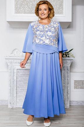 Купить Платье Aira Style 569 голубые тона, Платья, 569, голубые тона, Креп-атлас, крежево, Мультисезон