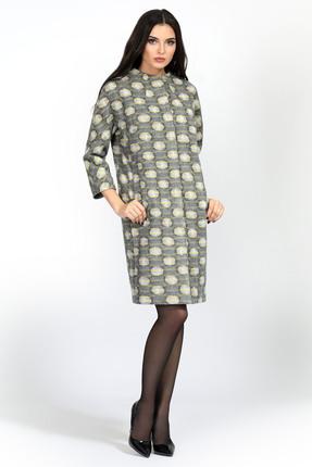 Купить Пальто Bazalini 2842 серый, Пальто, 2842, серый, ПЭ 60% Шерсть 35% Спандекс 5%, Мультисезон
