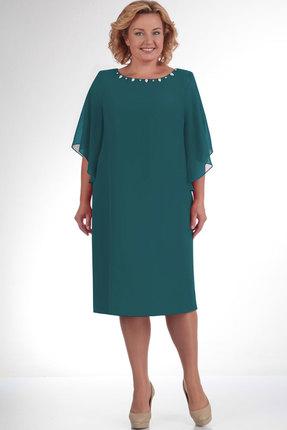 Купить Платье Elga 01-468.1 тёмная бирюза, Платья, 01-468.1, тёмная бирюза, ПЭ - 100%, Мультисезон