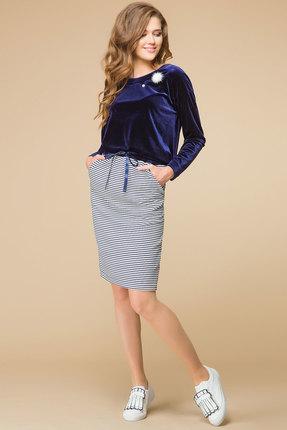 Купить Комплект юбочный Romanovich style 2-1531 синие тона, Юбочные, 2-1531, синие тона, Трикотаж (95% ПЭ, 5% спандекс), Мультисезон