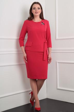 Купить Комплект юбочный Milana 920 красный, Юбочные, 920, красный, Костюмно-плательная со стрейчем. Состав: ПЭ-62%, вискоза-35% Спандекс-3%., Мультисезон