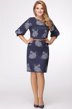 Купить Платье Bonna Image 278 синий, Платья, 278, синий, ПЭ - 65%, Вискоза - 35%, Мультисезон