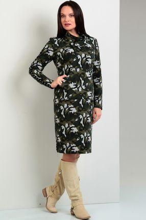 Купить Платье Jurimex 1622 зелено-серые тона, Платья, 1622, зелено-серые тона, Вискоза - 97%, эластан - 3%, Мультисезон