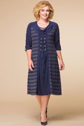 Купить Платье Romanovich style 1-1164 синий, Платья, 1-1164, синий, Масло, плиссе (95% ПЭ, 5% спандекс), Мультисезон