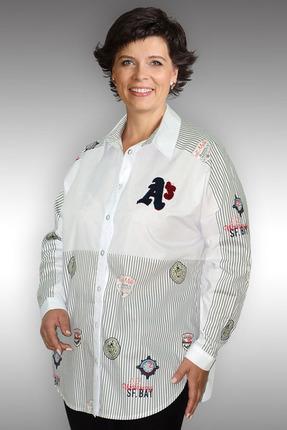 Купить со скидкой Рубашка Таир-Гранд 62273-1 белый + серый