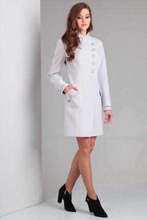 Купить со скидкой Пальто Диамант 1207 серый