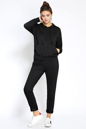 Купить Спортивный костюм PIRS 163 черный, Спортивные костюмы, 163, черный, 49% хлопок 48% нейлон 3 % спандекс, Мультисезон
