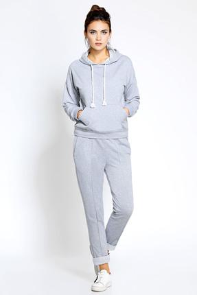 Купить Спортивный костюм PIRS 163 серый, Спортивные костюмы, 163, серый, 49% хлопок 48% нейлон 3 % спандекс, Мультисезон