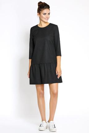 Купить Платье PIRS 169 черный, Платья, 169, черный, 55% полиэстр 35% вискоза 10% спандекс, Мультисезон