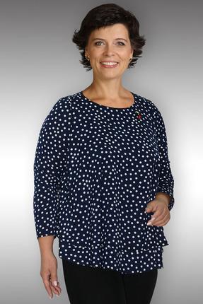 Купить Блузка Таир-Гранд 62232 синий, Блузки, 62232, синий, ПЭ 65%, вискоза 32%, спандекс 3%, Мультисезон
