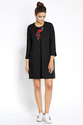 Купить Платье PIRS 174 черный, Платья, 174, черный, 80% полиэстр 20% вискоза, Мультисезон