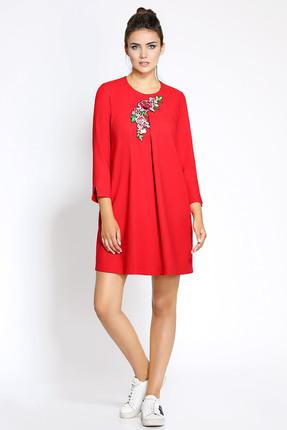 Купить Платье PIRS 174 красный, Платья, 174, красный, 80% полиэстр 20% вискоза, Мультисезон