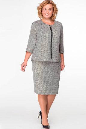Купить Комплект юбочный Nadin-N 1422 серый, Юбочные, 1422, серый, костюмно плательная, Мультисезон