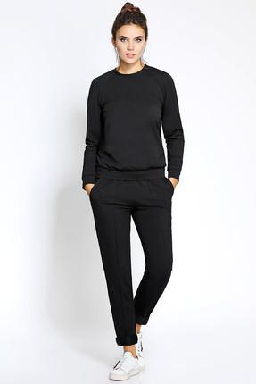 Купить Спортивный костюм PIRS 197 черный, Спортивные костюмы, 197, черный, 96% хлопок 4% эластан, 49% хлопок 48% нейлон 3 % спандекс, Мультисезон