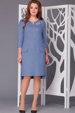 Купить Платье ТАиЕР 636 голубой, Платья, 636, голубой, Вискоза 40%, ПЭ 60%, Мультисезон