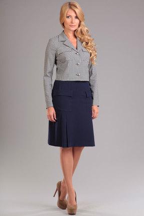 """Купить со скидкой Комплект юбочный Lady Style Classic 951 """"клетка с синим"""""""