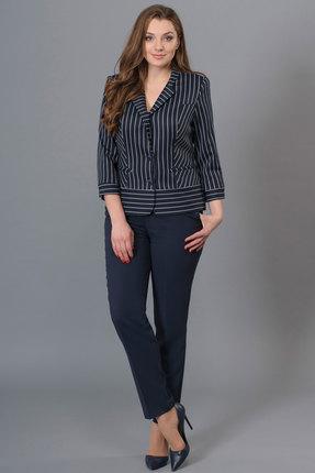 Купить со скидкой Комплект брючный Lady Style Classic 1210 темно-синий