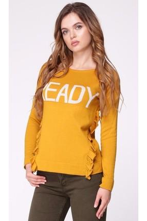 Купить Джемпер My Fashion House 3281 горчица, Джемпера, 3281, горчица, Хлопок - 50%; ПАН - 49%; Метанит - 1%., Мультисезон