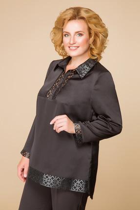 Купить Блузка Romanovich style 5-1538 черный, Блузки, 5-1538, черный, 95% ПЭ, 5% спандекс, Мультисезон