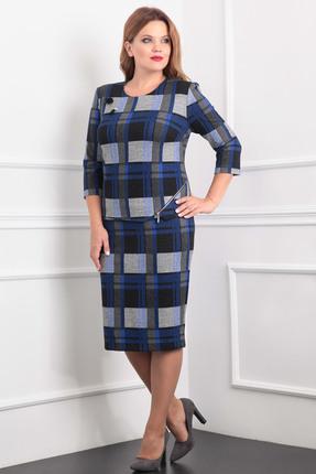 Купить Комплект юбочный Milana 858 синие тона, Юбочные, 858, синие тона, Трикотажное полотно Состав: ПЭ-32%, вискоза-63%, спандекс-5%., Мультисезон
