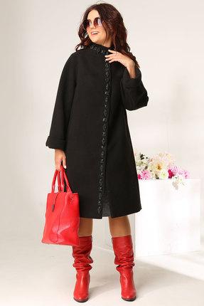 женское пальто solomeya lux, черное