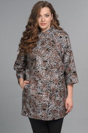 """Купить со скидкой Пальто Lady Style Classic 925 """"леопардовый"""""""