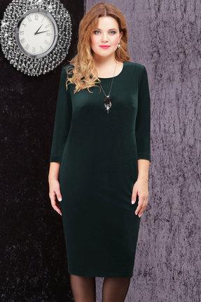 Платье LeNata 11816 зеленый