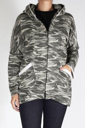 Женская хлопковая спортивная кофта на молнии с карманами