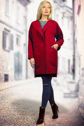 Купить со скидкой Пальто Миа Мода 829-2 темно-красный