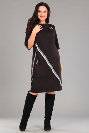 Купить Платье Andrea Style 0020 черный, Платья, 0020, черный, пэ 95%, спандекс 5%., Мультисезон