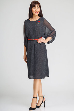 Купить Платье SWALLOW 072 черные тона, Платья, 072, черные тона, 60% вискоза, 40 % полиэстер, Мультисезон