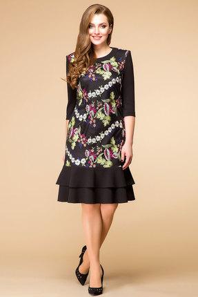 Купить Платье Romanovich style 1-1557 черный, Вечерние платья, 1-1557, черный, Трикотаж (95% ПЭ, 5% спандекс), Мультисезон