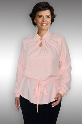 Купить Блузка Таир-Гранд 62195 розовый, Блузки, 62195, розовый, Состав ткани: вискоза 60%, пэ 37%, ликра 3%, Мультисезон